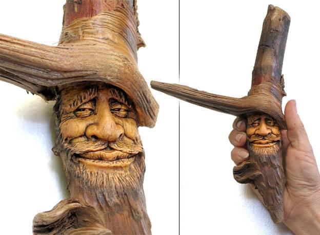 Нэнси Татл превращает коряги и обломки деревьев в сказочные деревянные скульптуры, фото № 25
