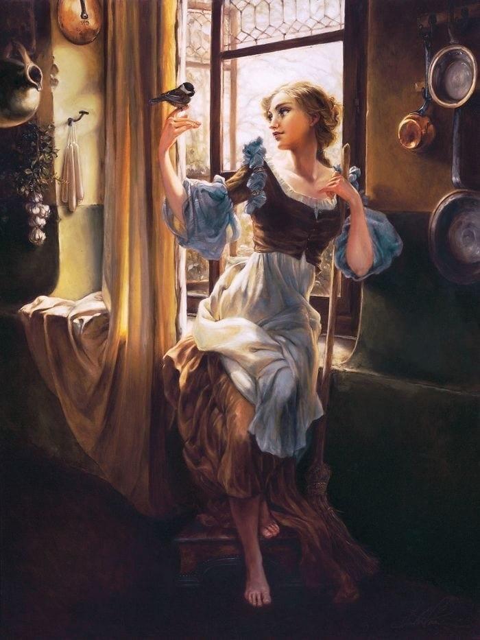 Художница нарисовала диснеевских принцесс в духе эпохи Возрождения. Что из это получилось? Смотрите и удивляйтесь, фото № 2
