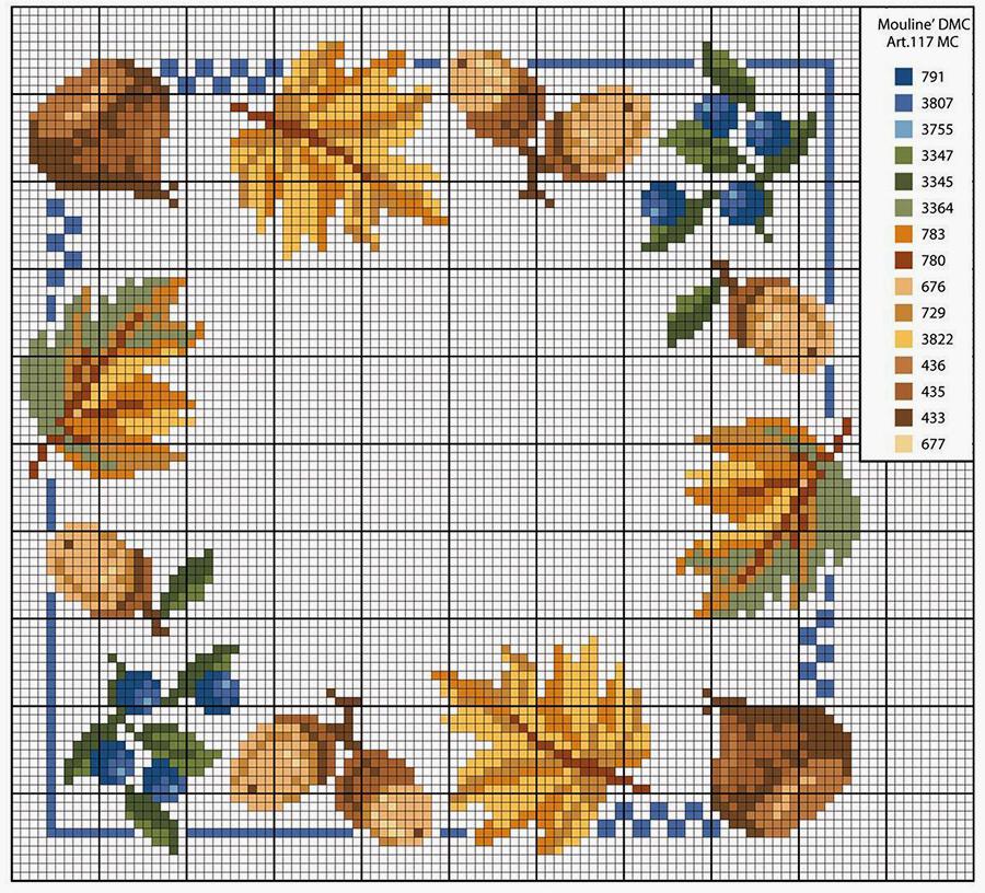 Влюбленные в осень: 50+ схем для вышивки крестиком, фото № 25