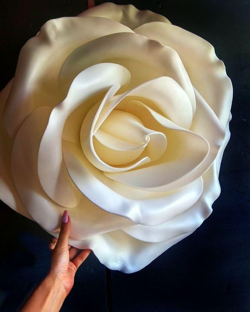 Создаем гигантскую розу из изолона, фото № 1