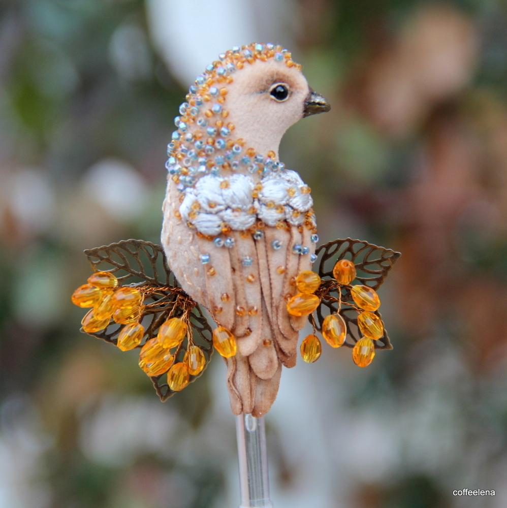Хотите научиться шить броши-птички? Тогда читайте этот пост<img src=