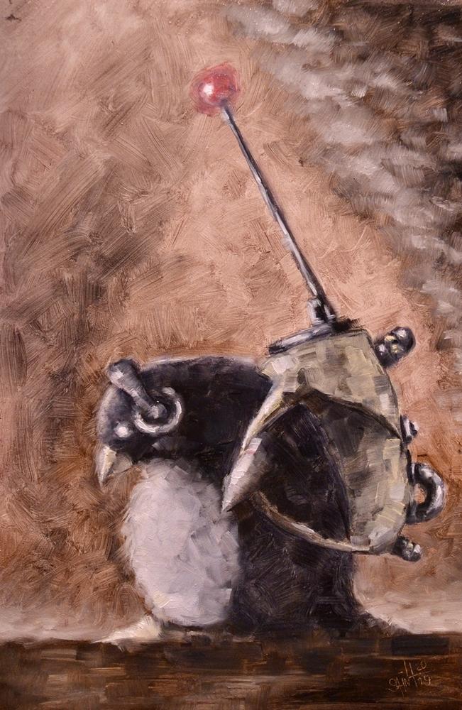День 340. Картина маслом  «Радист» . 41-я работа из серии 50 дней масла, фото № 1