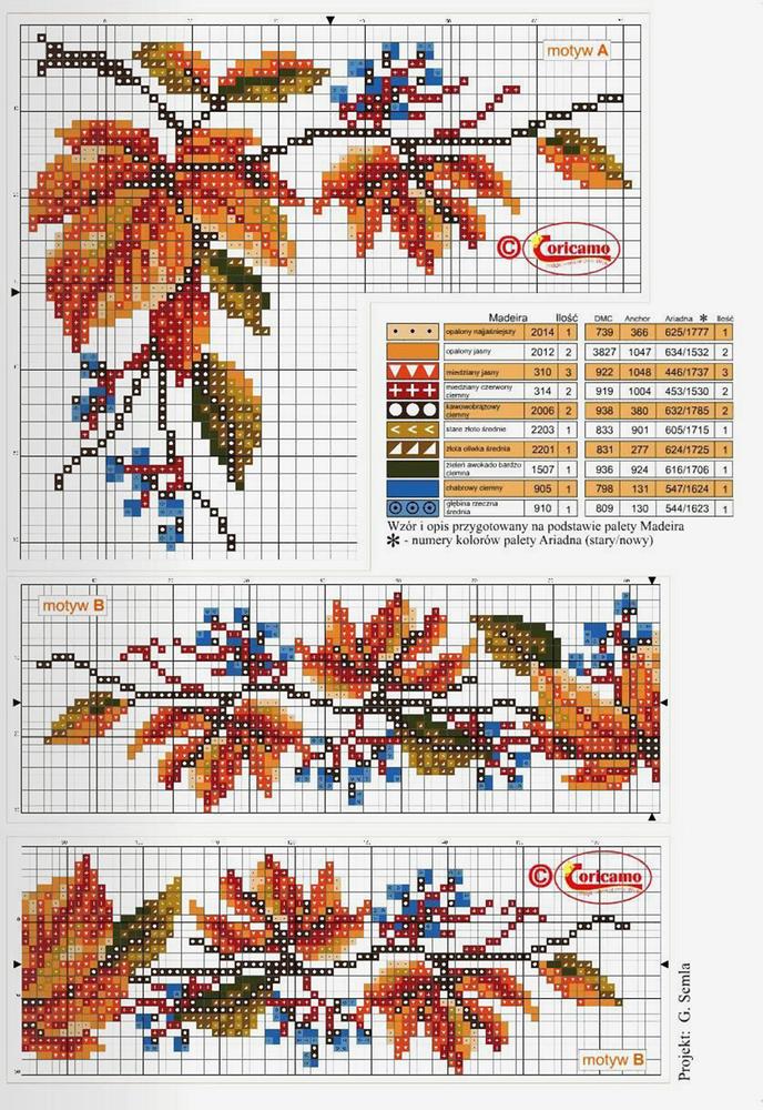 Влюбленные в осень: 50+ схем для вышивки крестиком, фото № 50