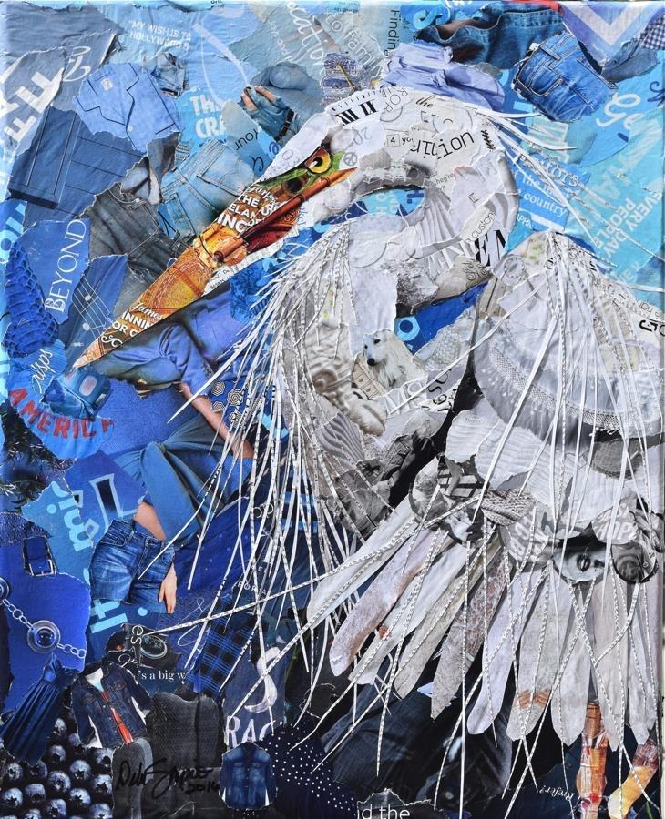 Дебора Шапиро создает коллажи из рваных кусочков бумаги и глянцевых журналов, фото № 20