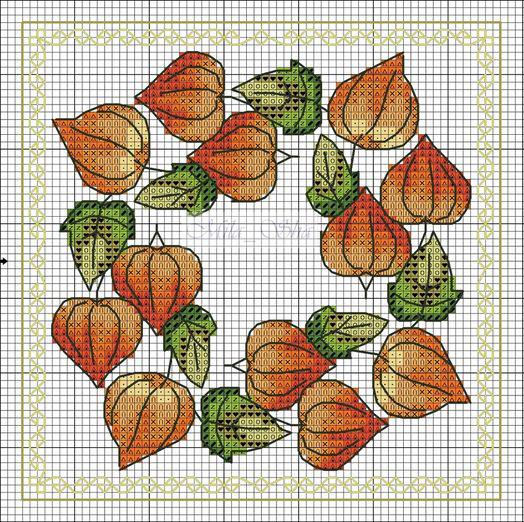 Влюбленные в осень: 50+ схем для вышивки крестиком, фото № 28