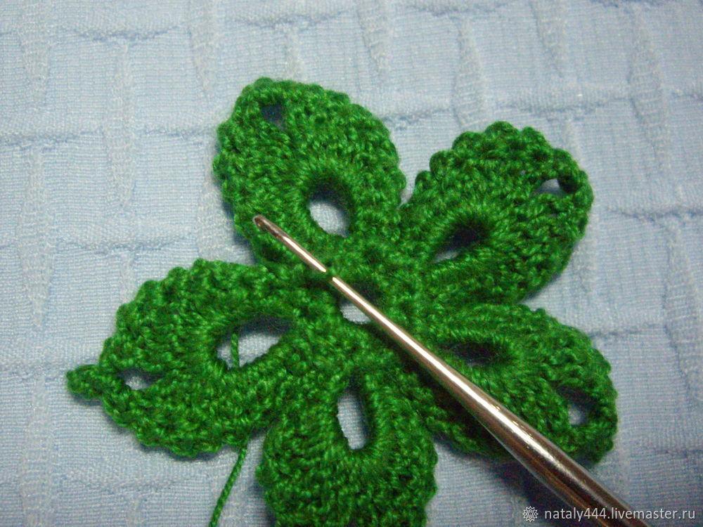 Вяжем цветок для ирландского кружева, фото № 18