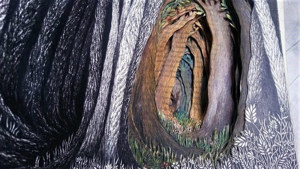 Isobelle Ouzman создаёт удивительные многослойные композиции, вырезанные из старых книг, фото № 27