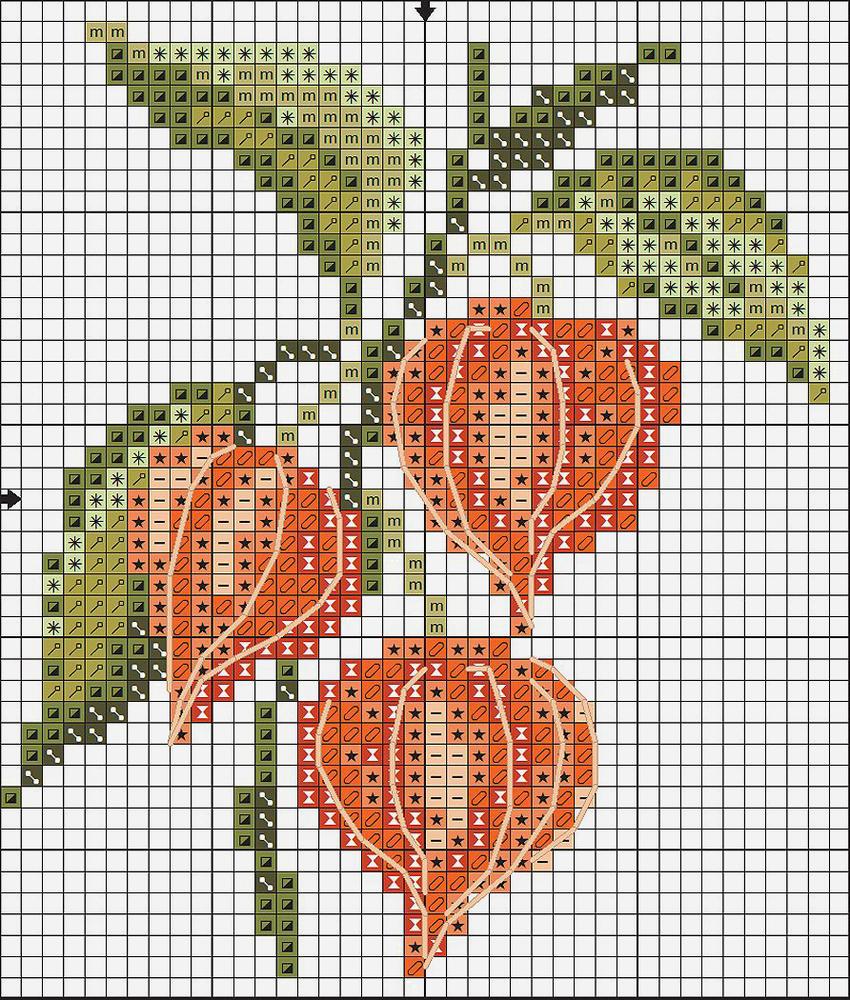 Влюбленные в осень: 50+ схем для вышивки крестиком, фото № 27