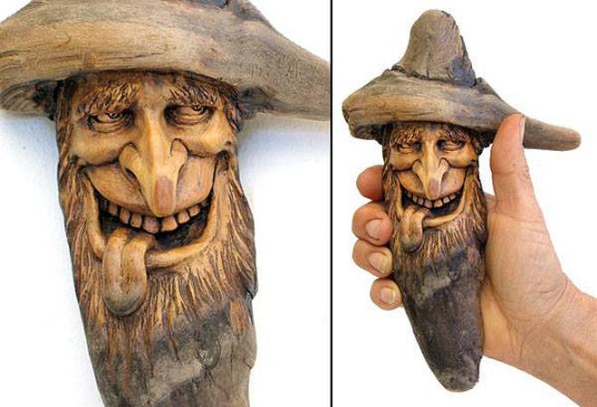 Нэнси Татл превращает коряги и обломки деревьев в сказочные деревянные скульптуры, фото № 40