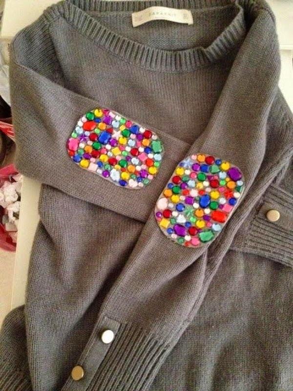 Декоративные заплатки на локтях одежды: 11 креативных идей, фото № 10