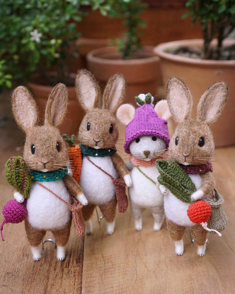 Mouse Stories: Adorable Felted Toys By Little Wool Tails, фото № 11