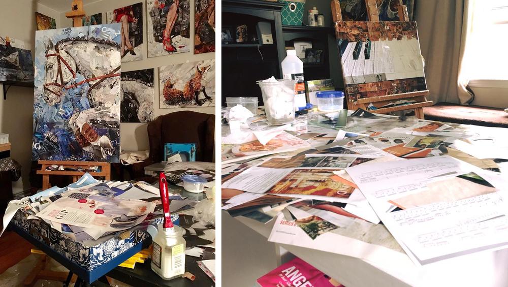 Дебора Шапиро создает коллажи из рваных кусочков бумаги и глянцевых журналов, фото № 2