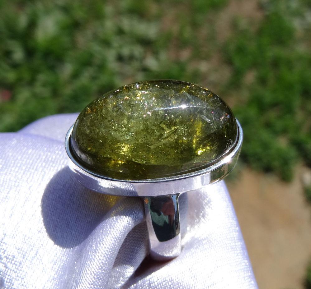 аукцион сегодня, кольцо с вердилитом, кольцо, аукцион украшения, кольцо с натуральным камнем