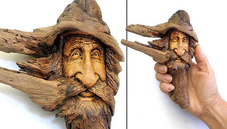 Нэнси Татл превращает коряги и обломки деревьев в сказочные деревянные скульптуры, фото № 38