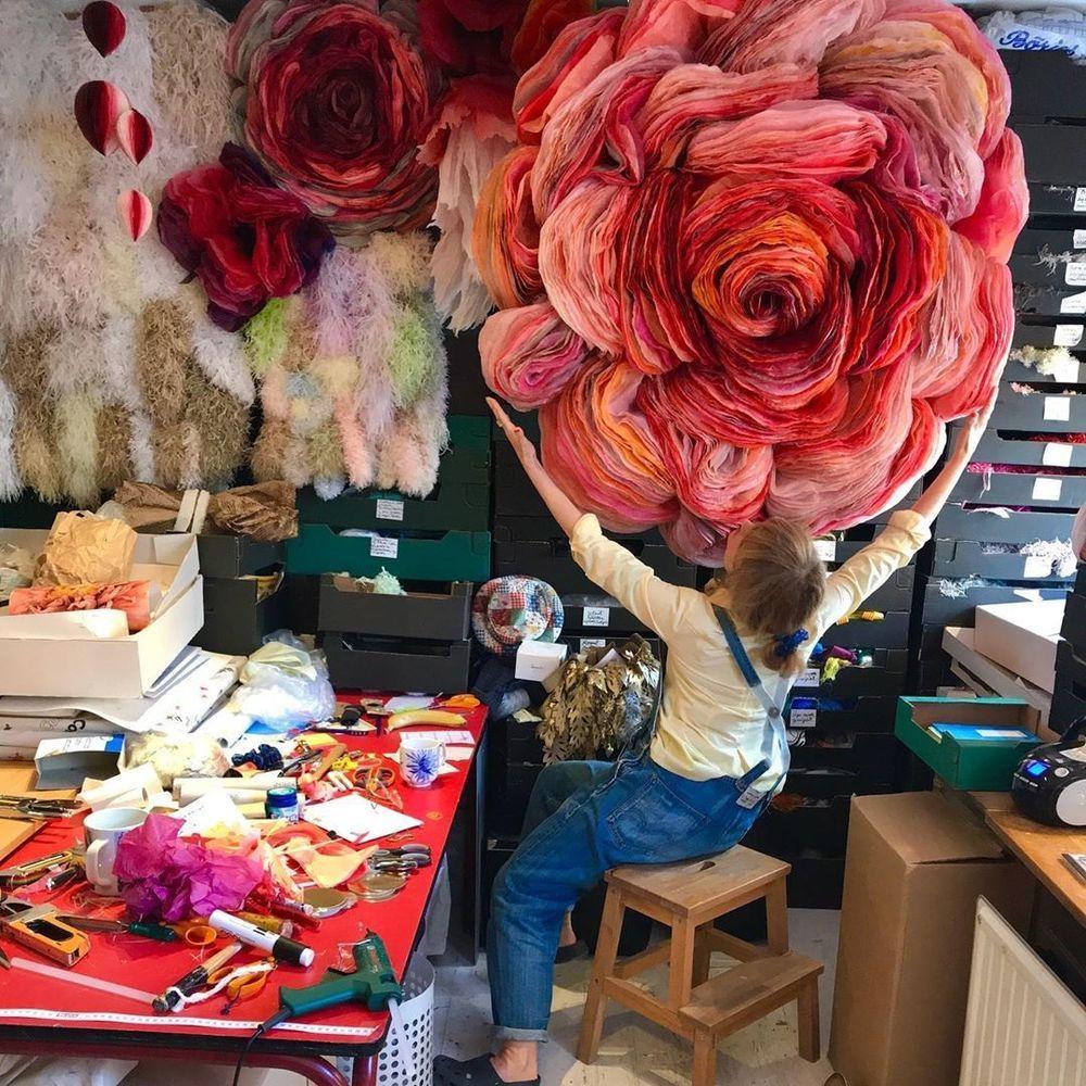 Потрясающие бумажные цветы датской художницы arianne riksen-cott ansen, фото № 1