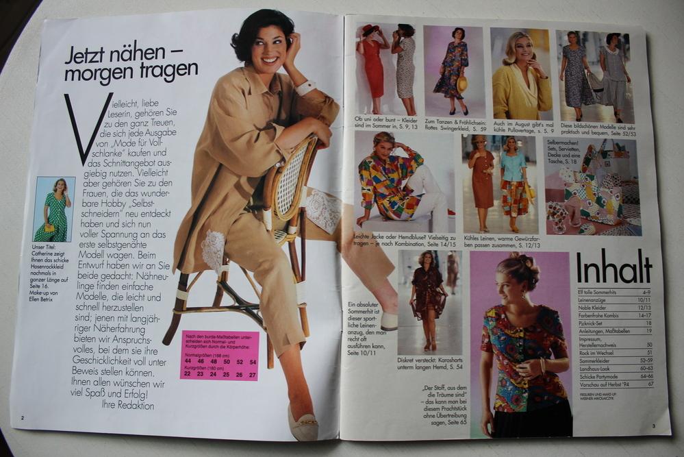 Бурда — спец. выпуск — мода для полных  -февраль 1994, фото № 3