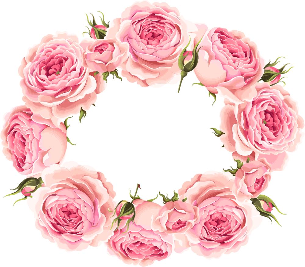 Розы в векторе для открытки