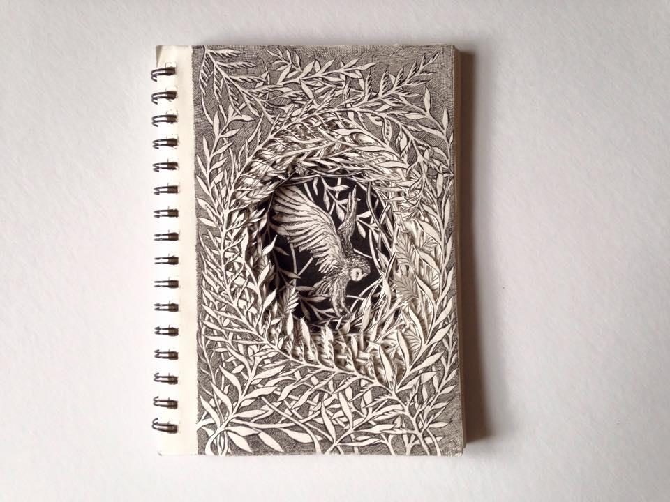 Isobelle Ouzman создаёт удивительные многослойные композиции, вырезанные из старых книг, фото № 36