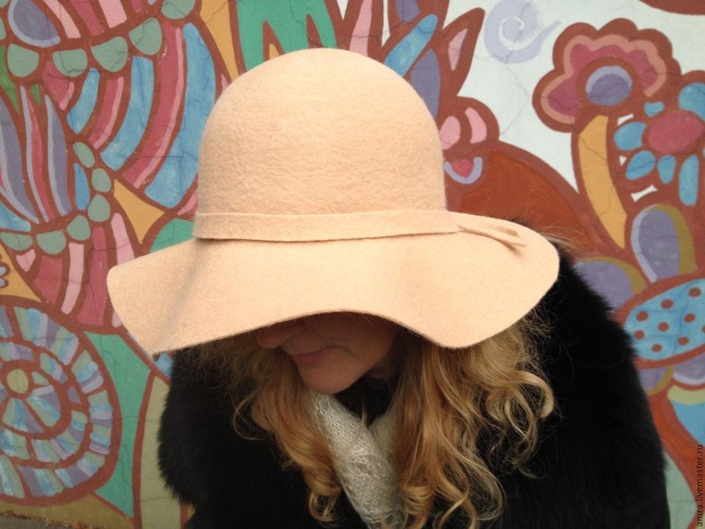 МК Натальи Сафоновой  «Валяная шляпа с  полями из кардочеса», фото № 10