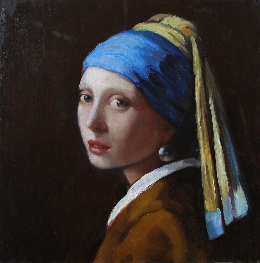 Пишем картину «Девушка с жемчужной сережкой». Часть 1, фото № 1