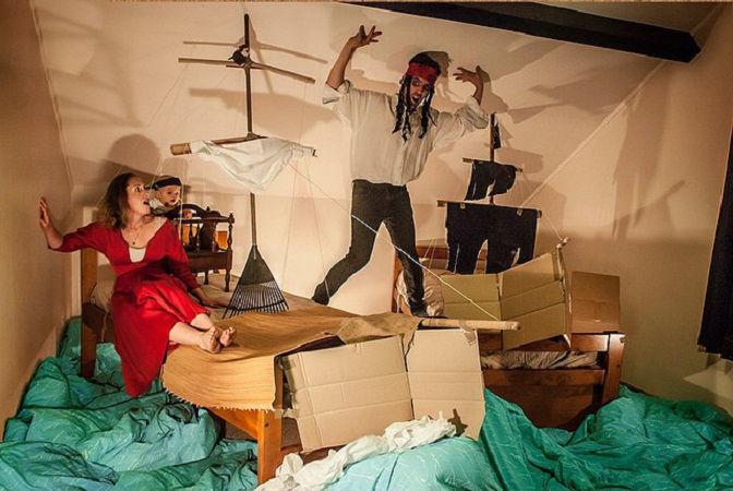 Что будет, если творческим людям дать много картонных коробок Лион Мэки и Лилли Лэнг — творческая семья киноманов, фото № 45