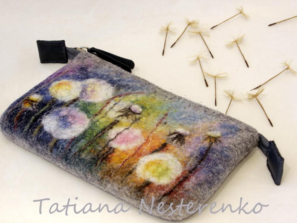 Мастер-класс по мокрому валянию сумки с акварельным рисунком, фото № 2