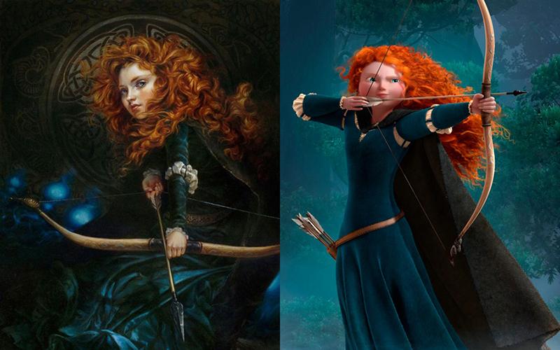 Художница нарисовала диснеевских принцесс в духе эпохи Возрождения. Что из это получилось? Смотрите и удивляйтесь, фото № 1