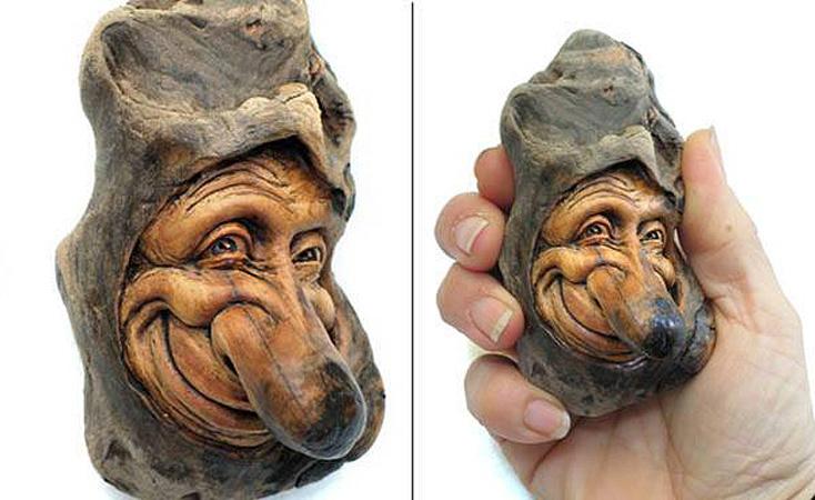 Нэнси Татл превращает коряги и обломки деревьев в сказочные деревянные скульптуры, фото № 23