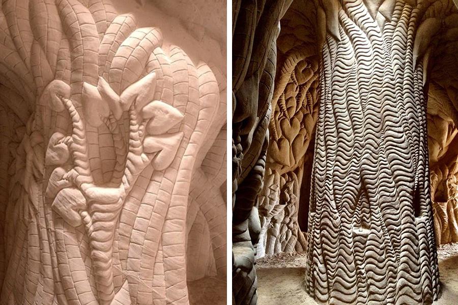 Восьмое чудо света: скульптор-отшельник создает невероятные пещеры собственными руками, фото № 23