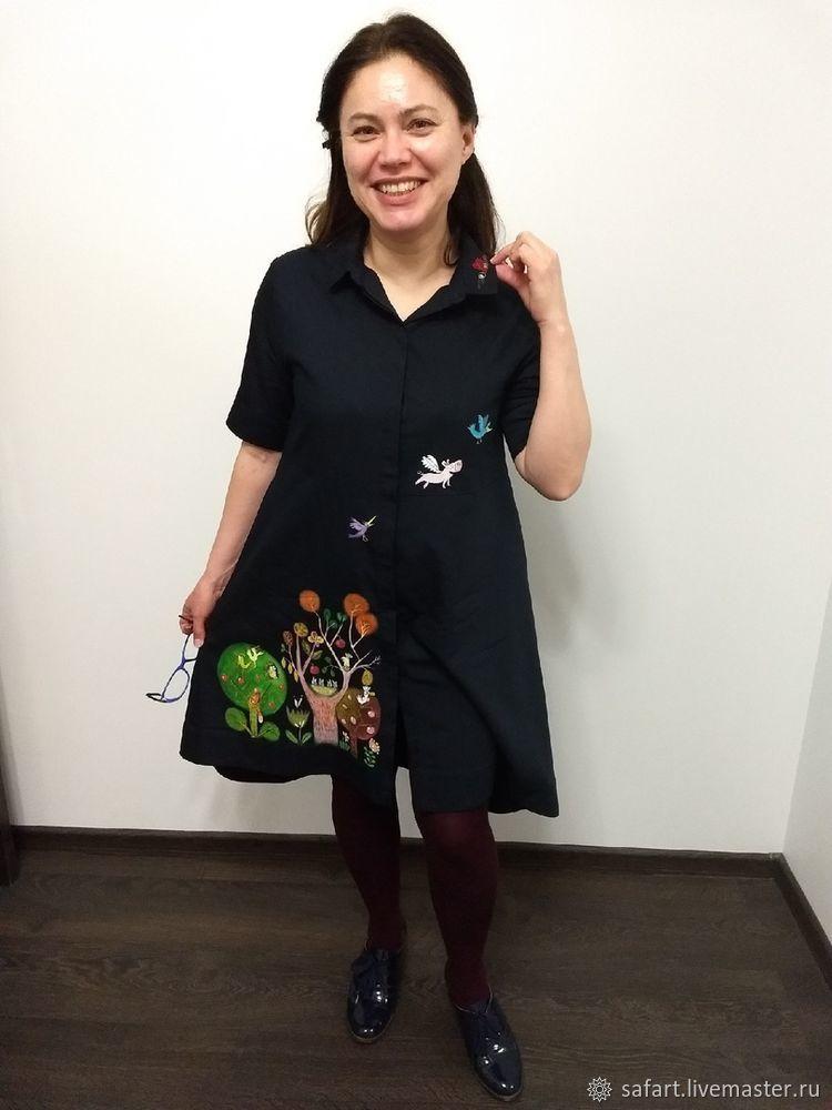 Переделываем скучное платье с помощью росписи, фото № 10