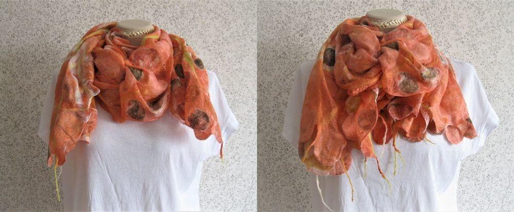 Как красиво завязать шарф платок, палантин. Быстрые и оригинальные способы для легкого большого шарфа, фото № 7