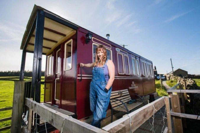 Необычный дом британки Эммы Хаммонд из вагона, фото № 11
