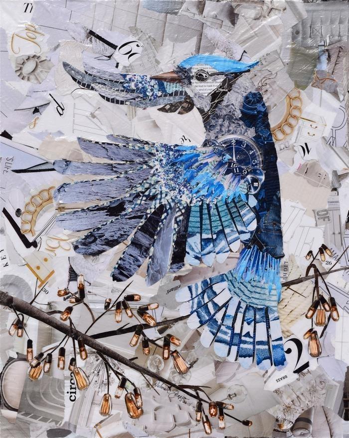 Дебора Шапиро создает коллажи из рваных кусочков бумаги и глянцевых журналов, фото № 26
