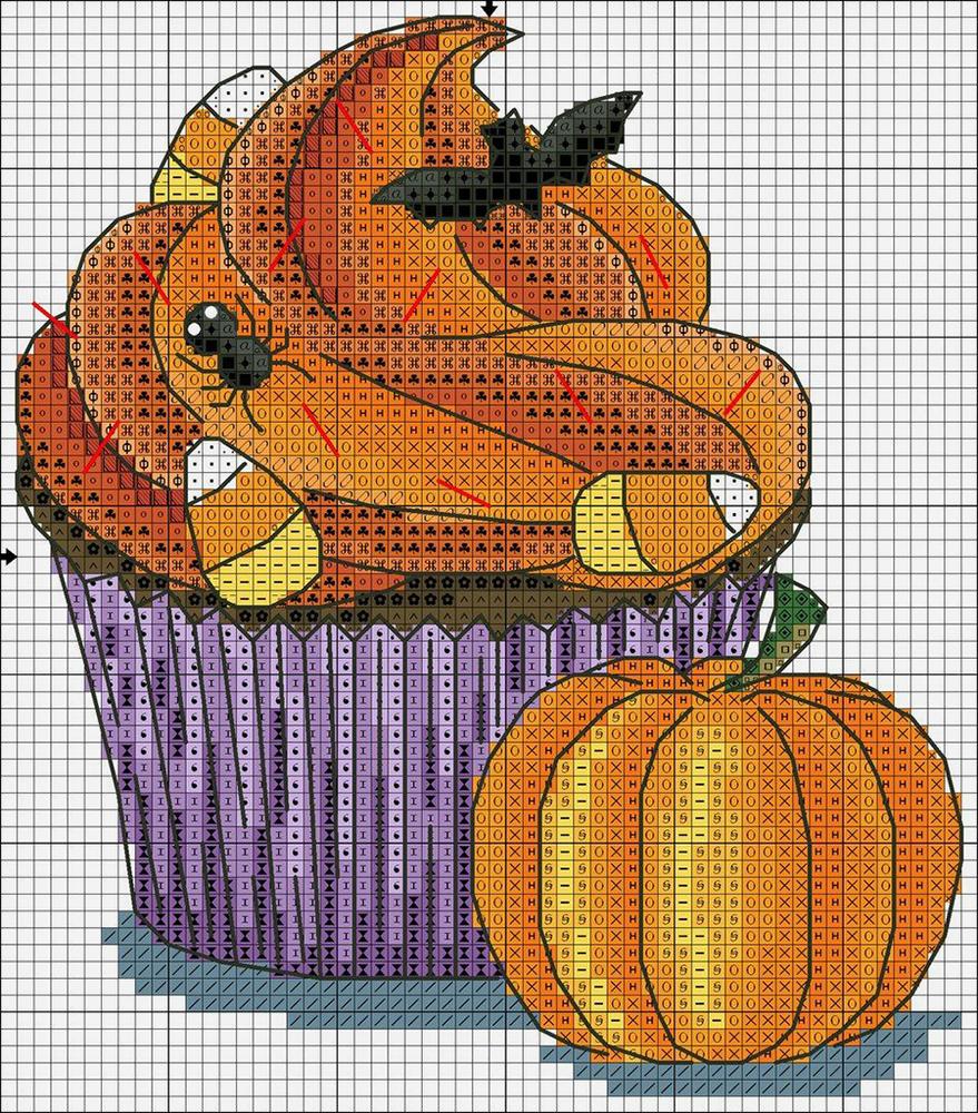 Влюбленные в осень: 50+ схем для вышивки крестиком, фото № 43
