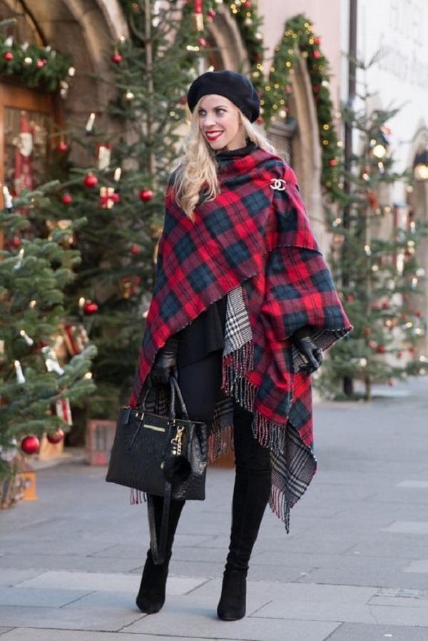 Простые способы ношения палантина в холодное время года, фото № 1