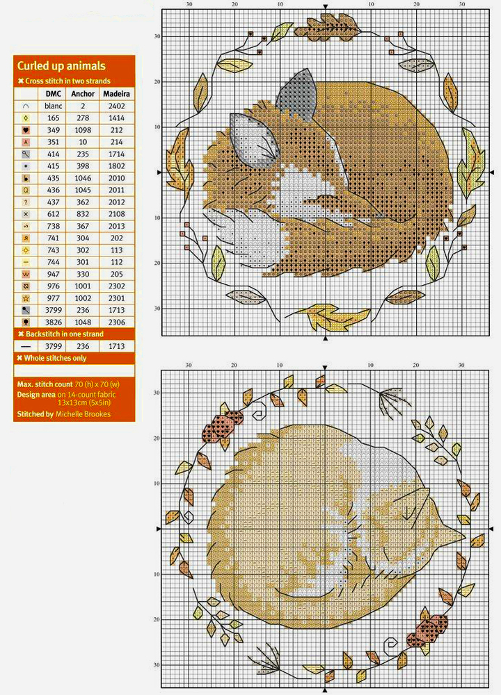 In Love With Autumn: 50+ Cross Stitch Patterns, фото № 11