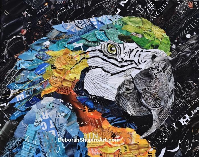 Дебора Шапиро создает коллажи из рваных кусочков бумаги и глянцевых журналов, фото № 30