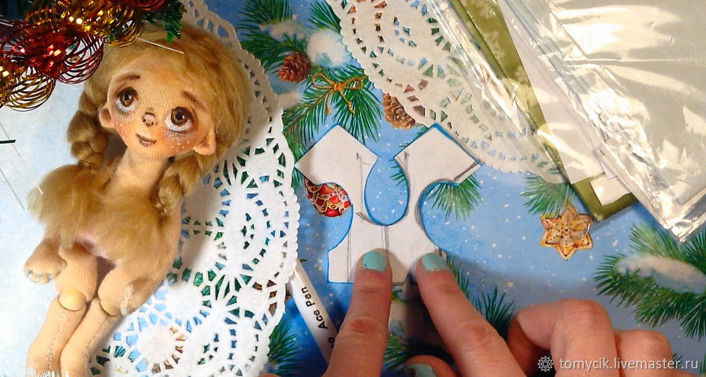 How To Sew Dress For Textile Doll, фото № 4