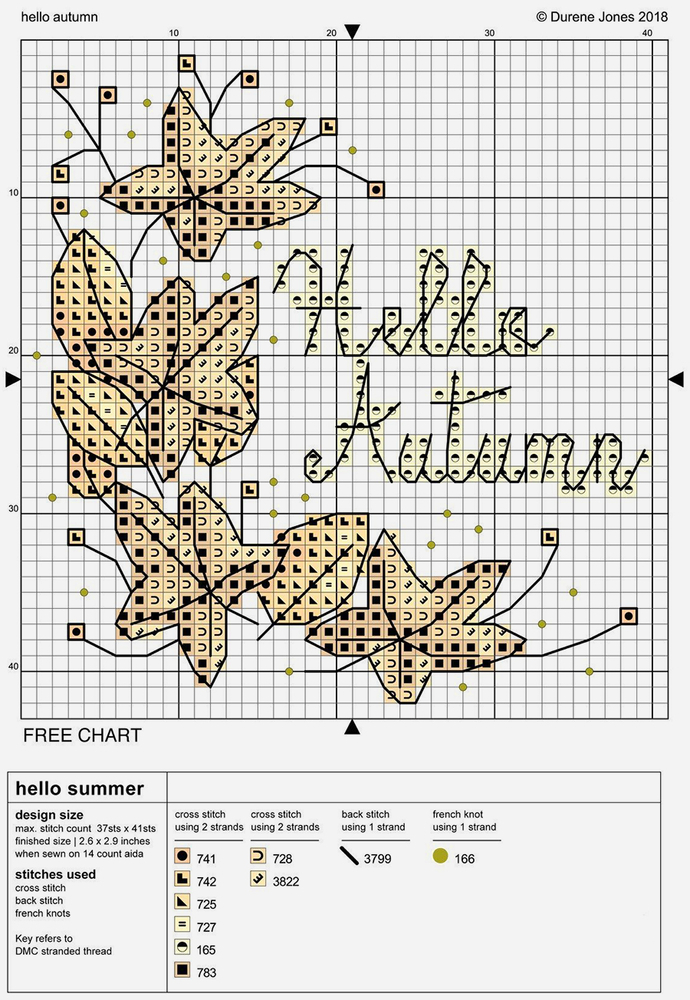 Влюбленные в осень: 50+ схем для вышивки крестиком, фото № 5