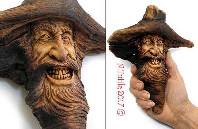 Нэнси Татл превращает коряги и обломки деревьев в сказочные деревянные скульптуры, фото № 46