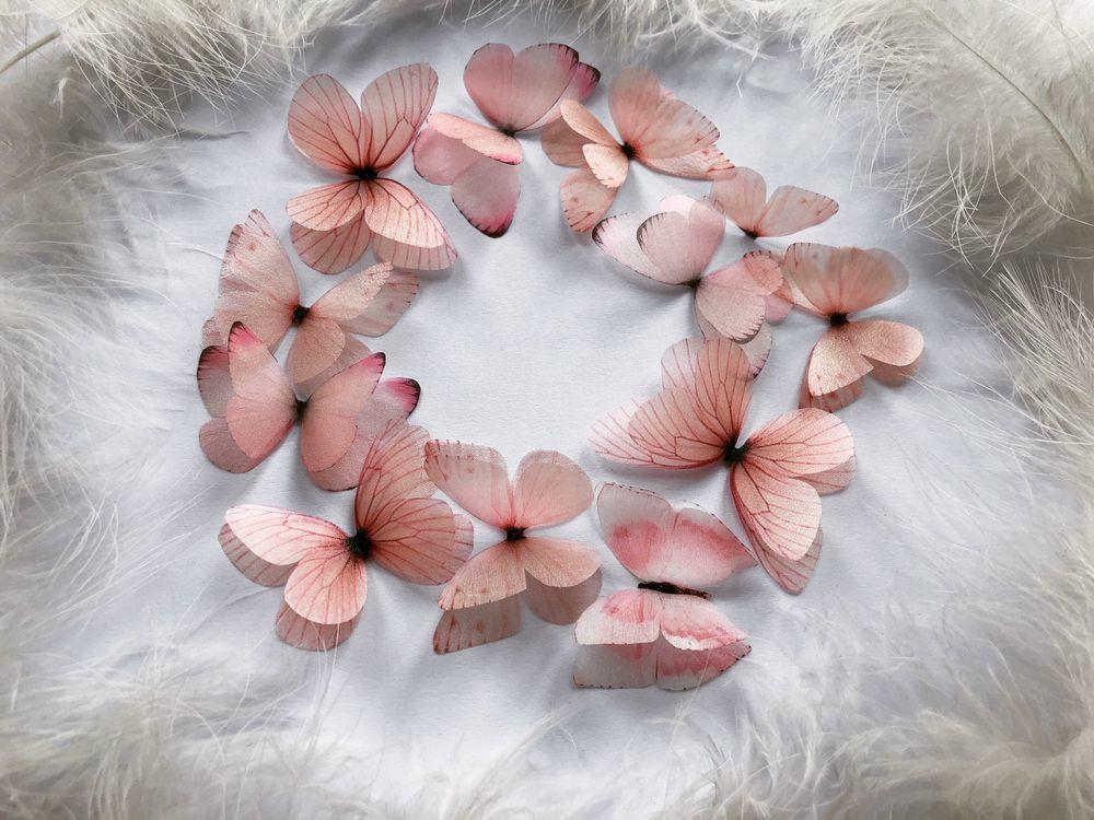 розовые бабочки, алина задорожная, silk butterfly, butterfly kaleidoskope, pink butterfly, калейдоскоп из бабочек, butterfly art, wedding decor, butterfly hairclips, bridal butterfly