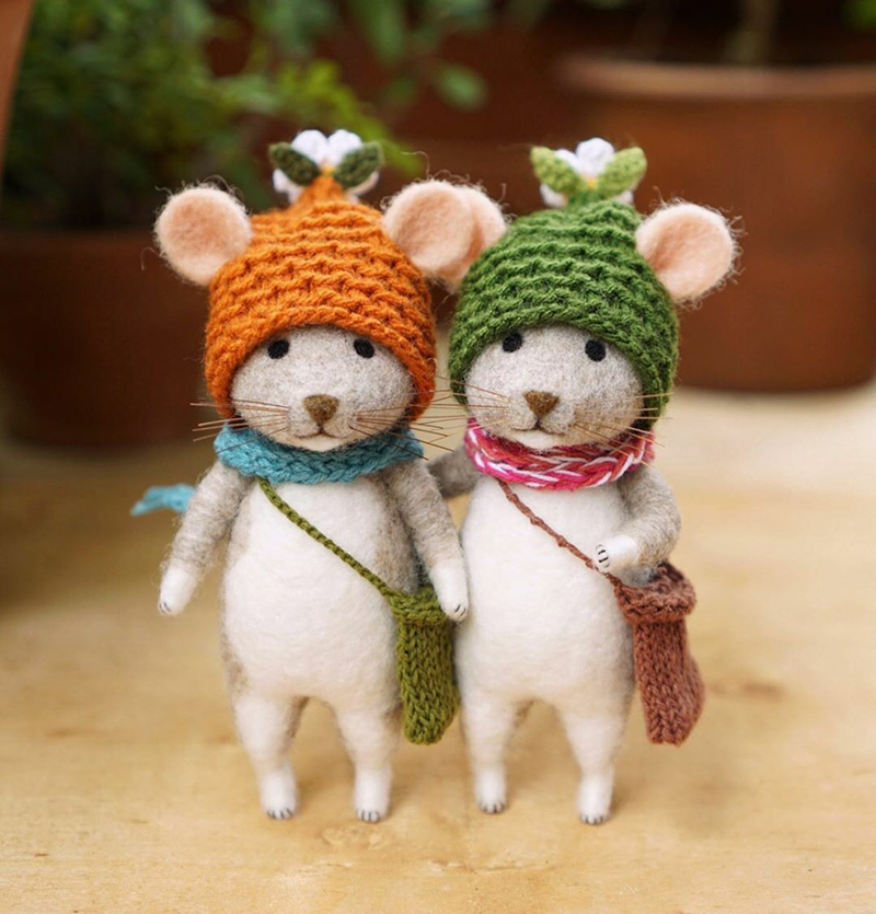 Mouse Stories: Adorable Felted Toys By Little Wool Tails, фото № 3