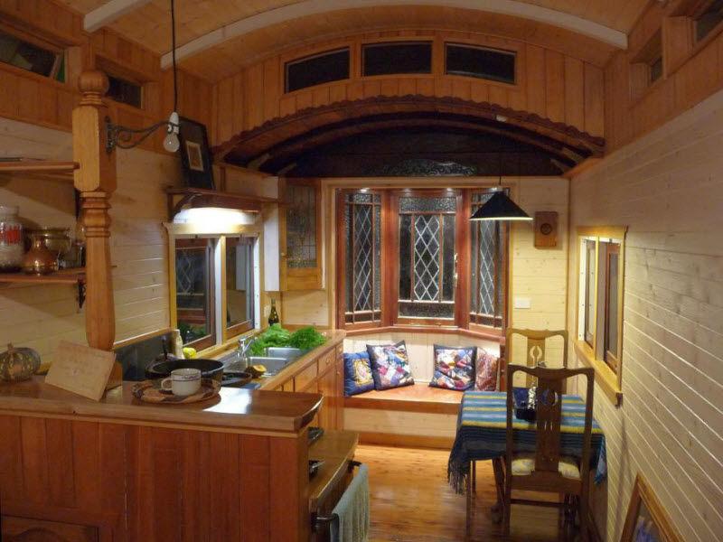 Необычный дом британки Эммы Хаммонд из вагона, фото № 24