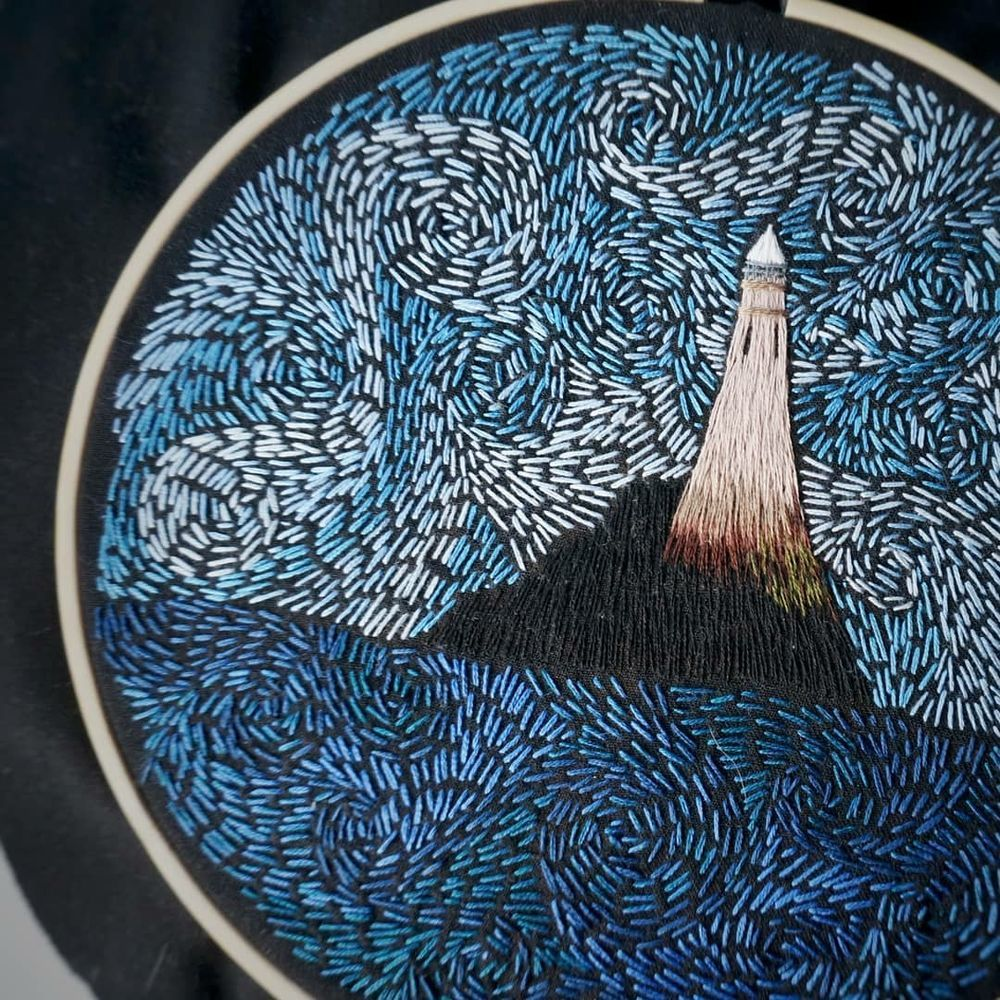 night embroidery