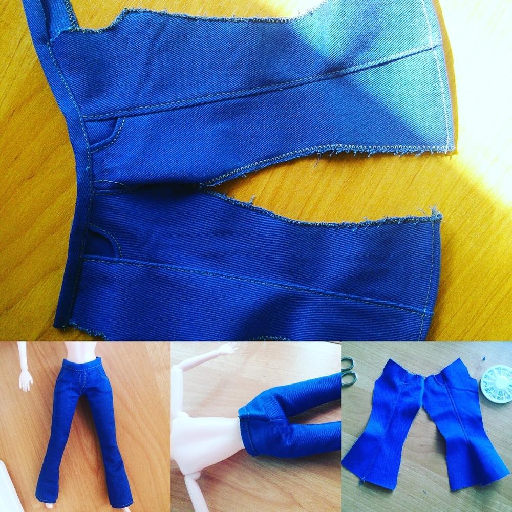 Несколько фото процесса создания одежды для Барби и Кена, фото № 14
