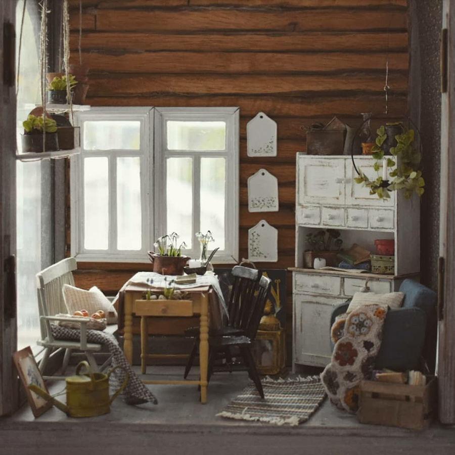 Финская художница создает дома мечты... в миниатюре, фото № 3