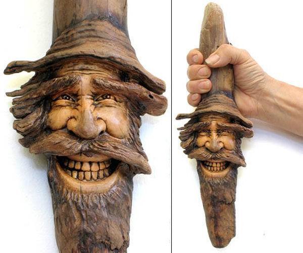 Нэнси Татл превращает коряги и обломки деревьев в сказочные деревянные скульптуры, фото № 16