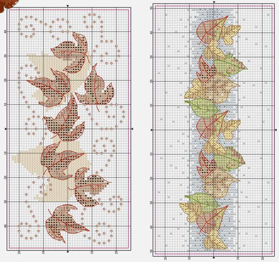 Влюбленные в осень: 50+ схем для вышивки крестиком, фото № 24