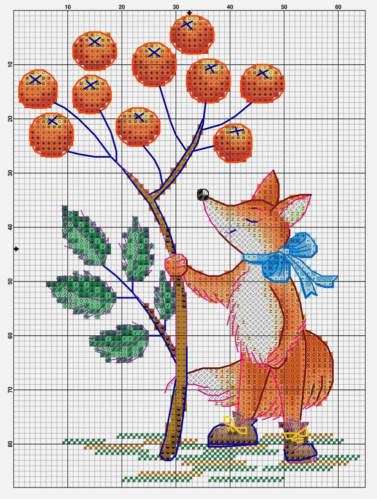 Влюбленные в осень: 50+ схем для вышивки крестиком, фото № 10