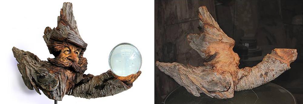 Нэнси Татл превращает коряги и обломки деревьев в сказочные деревянные скульптуры, фото № 8